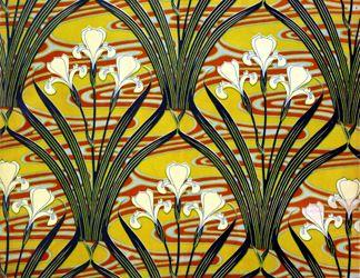 Art Nouveau textile design of lillies, by Felix Aubert (1866-1940) 1897 (printed cotton), The Design Library: