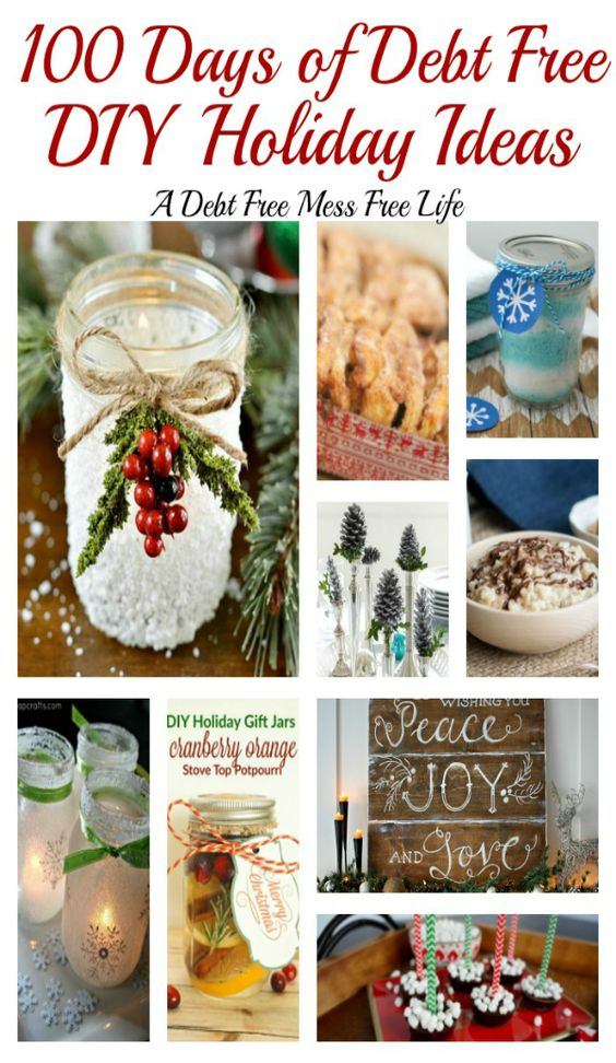 Visit our 100 Days of Debt Free DIY Holiday Ideas for more recipes, decorating ideas, crafts, homemade gift ideas holiday budget tips and much more! 100 Days of Christmas Cheer that won't break the bank!: