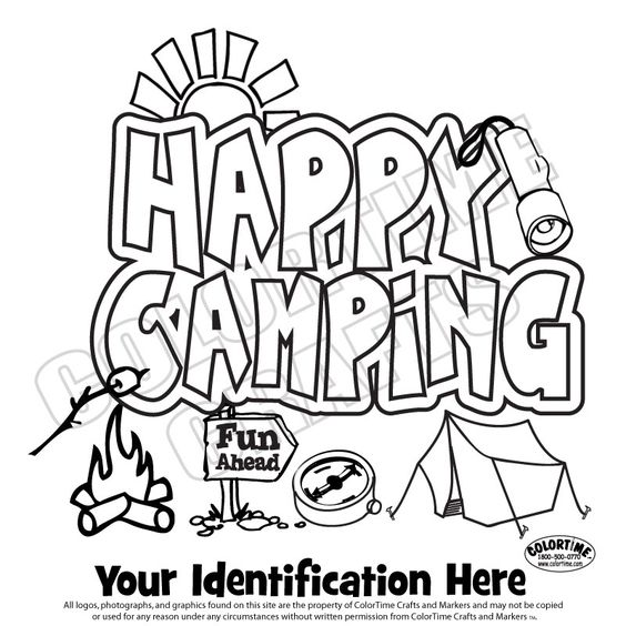 Girl Scout Camping Coloring Pages. girl scout camping ...