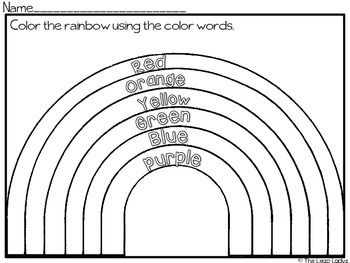 word free a rainbow and worksheets on pinterest