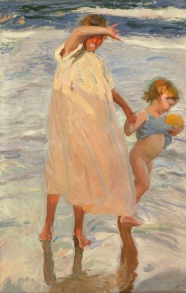 Joaquín Sorolla y Bastida  Spanish, 1863-1923, Two Sisters, Valencia...my all time favorite painting: