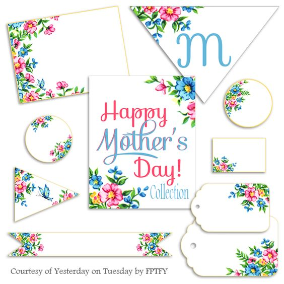 vintage floral mother's day printables: