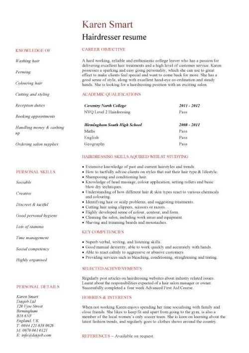 hair stylist resumes sample cosmetology bcffabbbef sample letter