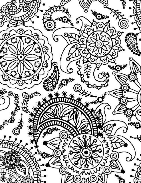 paisley flower coloring pages and coloring on pinterest