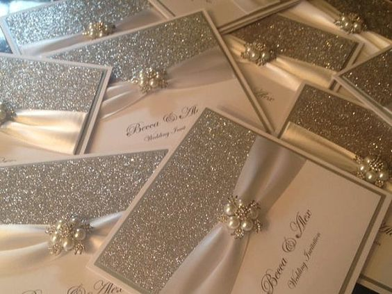 Handmade Luxury Wedding Invitation The Glitzy Crystal