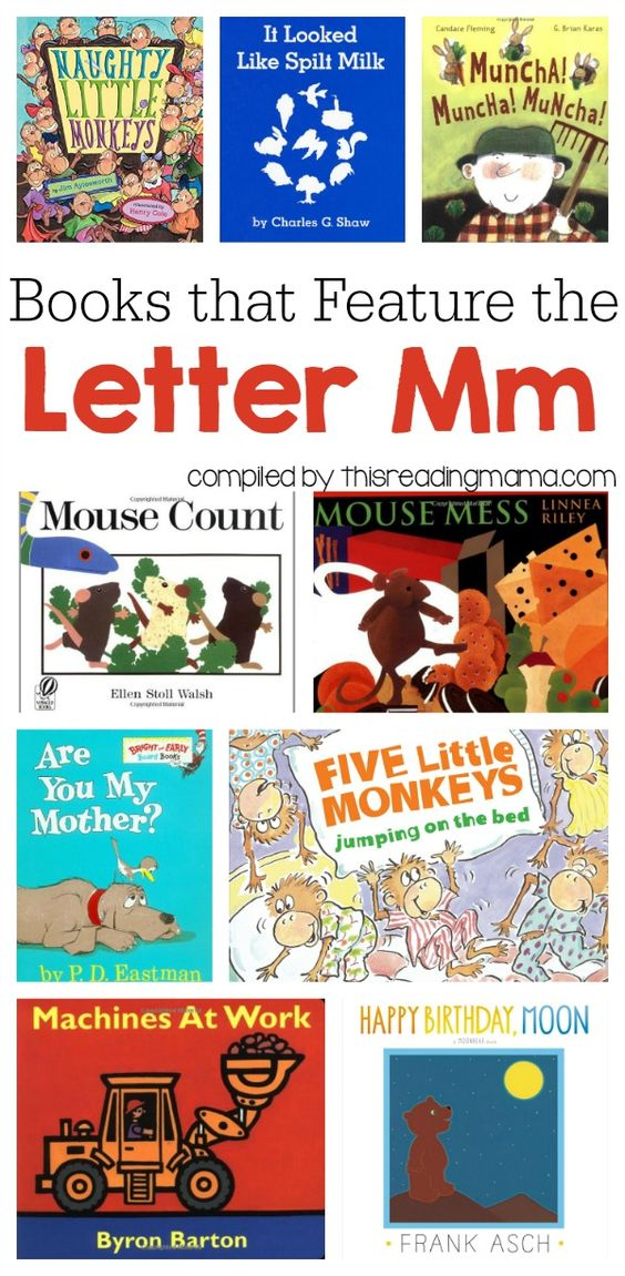 Letter M Book List Books that Feature the Letter M A