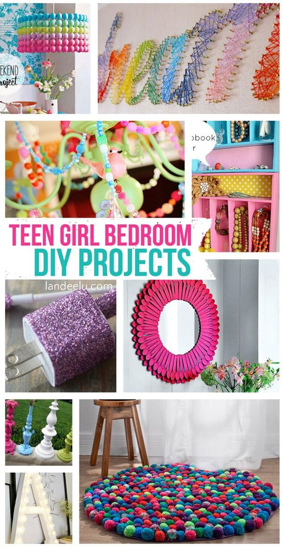 Teen Girl Bedroom DIY Projects Girls, Fun projects and Diys