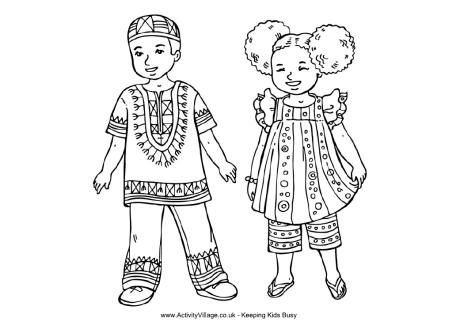 africa map african children and coloring pages for kids on pinterest