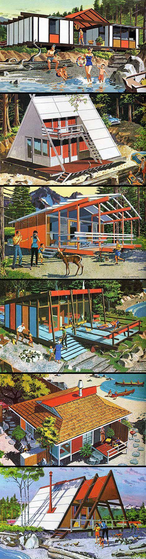 Mid-Century Modern Vacation Home Plans, via grainedit.com/2009/05/25/mid-century-modern-home-plans: