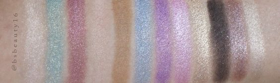 Hand Swatches. Please forgive me for not mentioning what are they, because MUA Professionals does not name the shades.