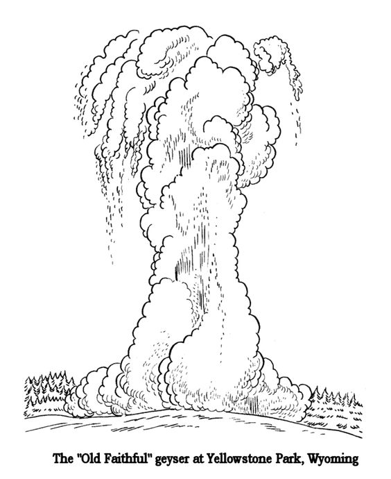 yellowstone national park coloring pages and national parks on