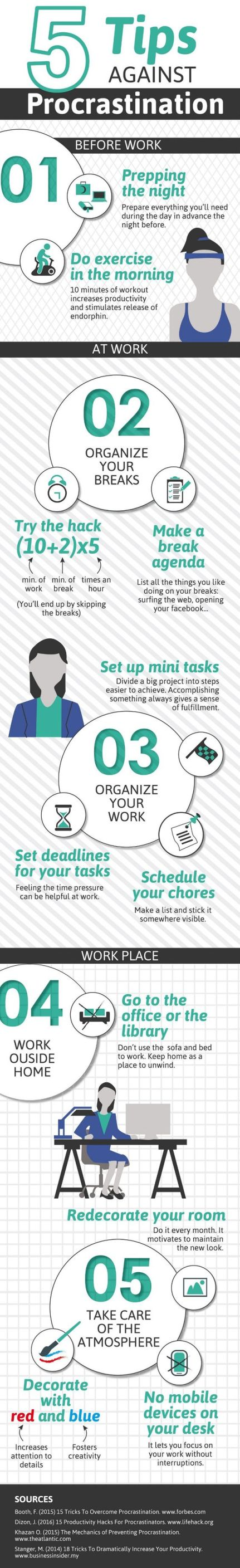 Get more things done by following these great tips to stop procrastinating.: