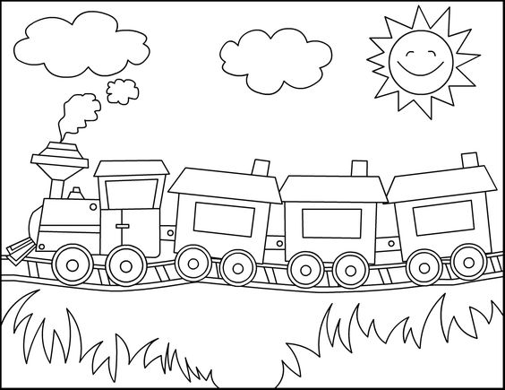trains coloring pages and coloring on pinterest