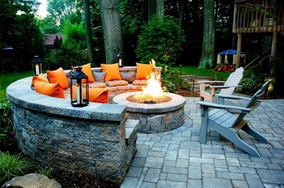 Outdoor Fire Pit and Seating Areas for Your Backyard