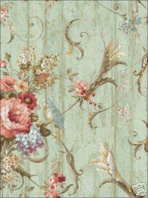 Bird Rose French Cottage Floral Victorian Wallpaper Birds Victorian And Vintage Wallpapers