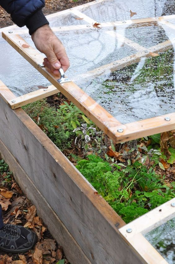 How to Build a Removable Cold Frame on top of your raised