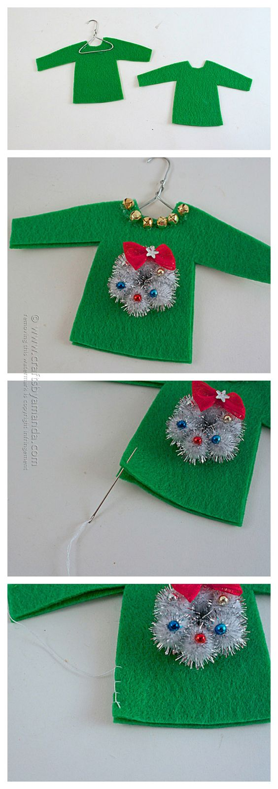 Crafts, Ornaments and Ugly sweater on Pinterest