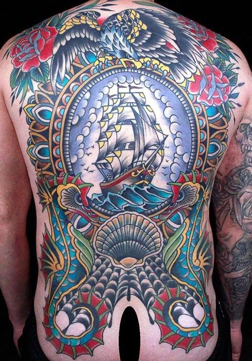 Traditional, American traditional tattoos and Traditional