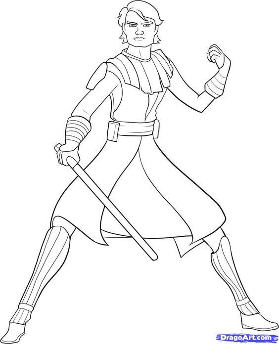 Anakin Skywalker Ausmalbilder 01 Star Wars Pinterest