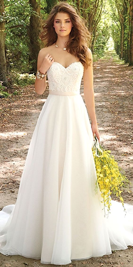 27 Simple Wedding Dresses For Elegant Brides Lace top