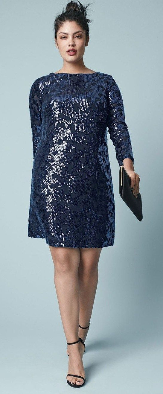 27 Plus Size Sequin Dresses {with Sleeves