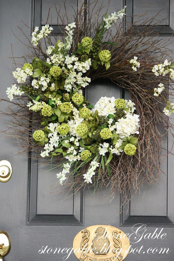 SUMMER WREATH TUTORIAL Summer White Doors And Flower