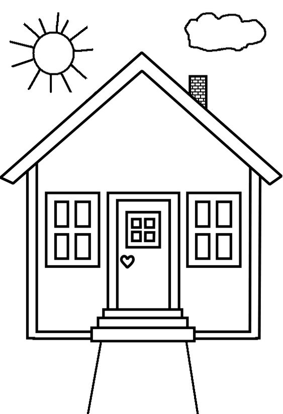 coloring pages coloring and house on pinterest