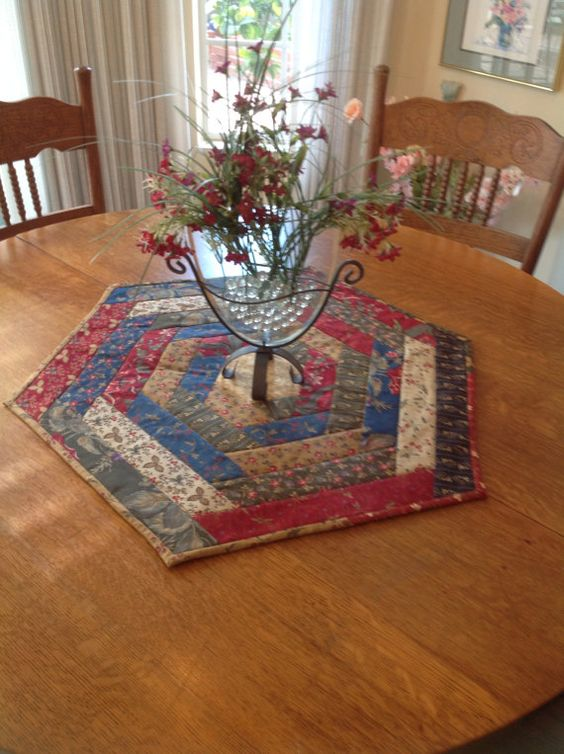 Hexagons Place Mats And Cabin On Pinterest