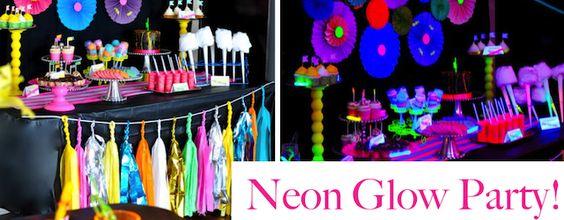 Neon Glow In The Dark Tween Dance Girl Birthday Party