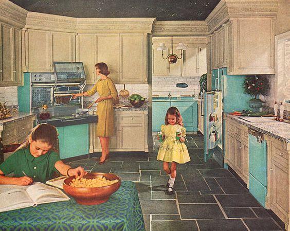 1960s Kitchens Decor. 1960s home decor kitchen old house antique ...