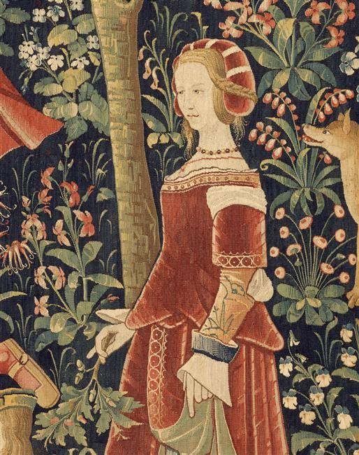 La tenture de la Vie Seigneuriale: Scènes galantes. Paris, musée de Cluny - musée national du Moyen-Age: