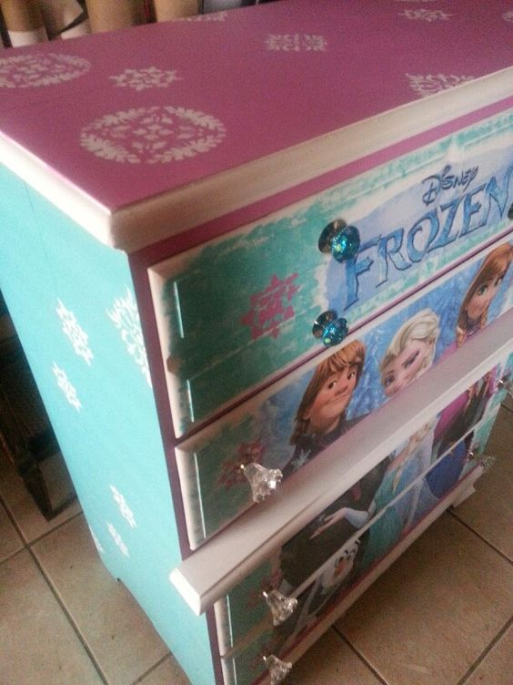 We Created This Beautiful Frozen Dresser It Turned Out