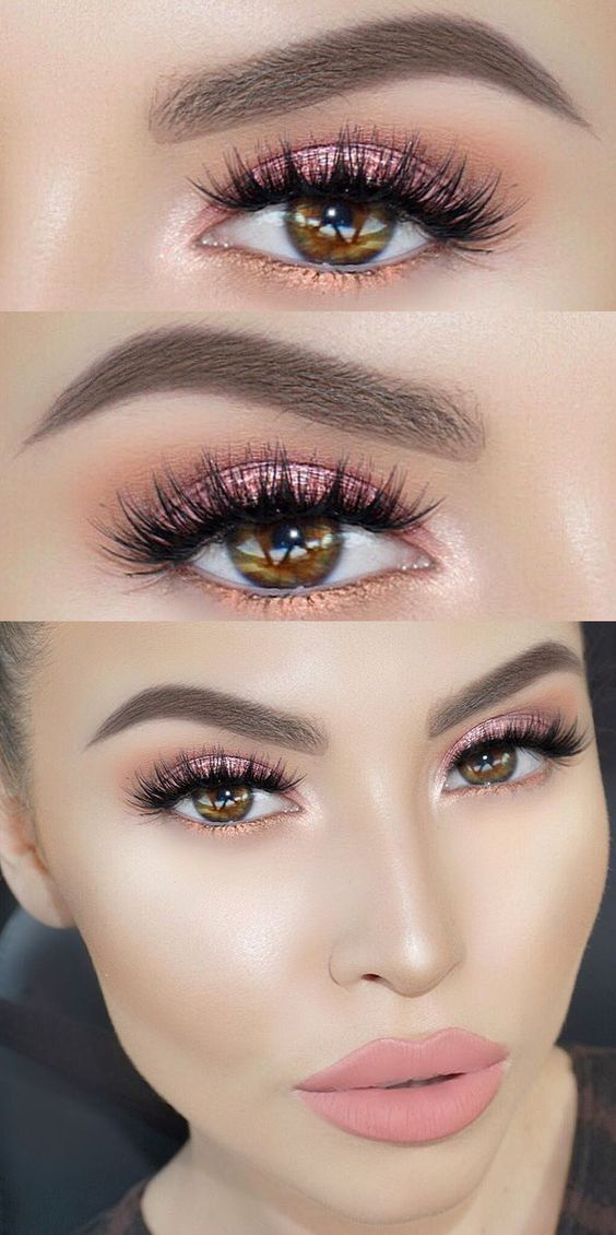 Great pop of color at the bottom--use our Evercolor Shadow Sticks in Pink Champagne and Topaz for this look!: