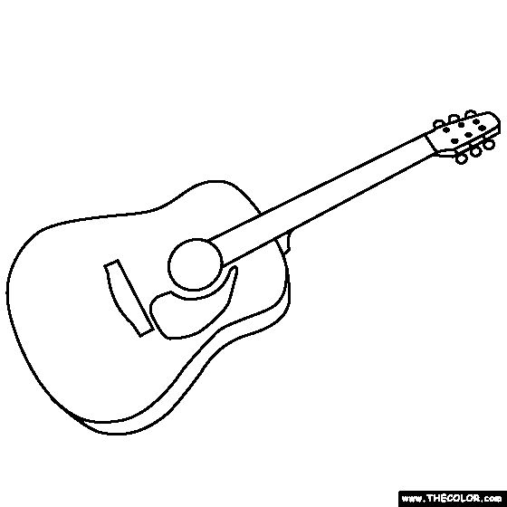 guitar coloring pages guitar coloring page coloring pages pinterest