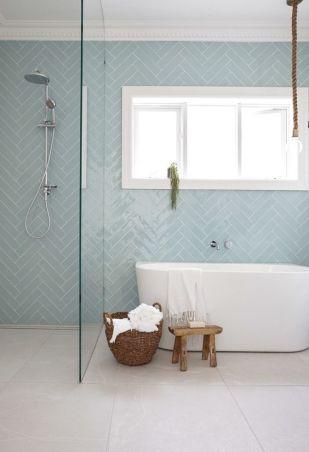 bathroom tile trends. Thinner Blue Subway Bathroom Tile Trends