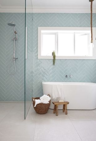 thinner blue subway bathroom tile trends