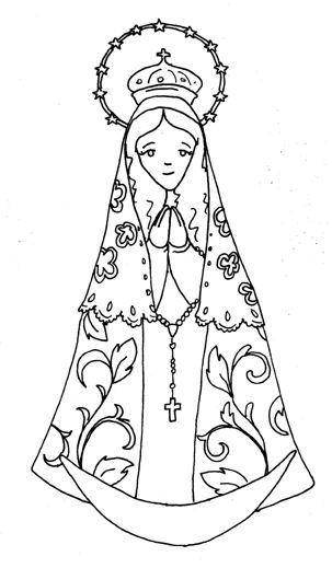 our lady catholic coloring page ccd pinterest catholic