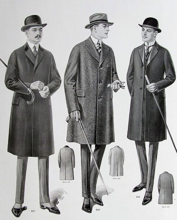 MENS FASHION 1919-1920 Downtown Gatsby Era Season Salesmans Sample Chart for…: