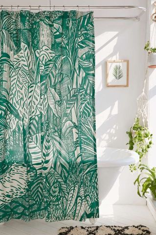 Saskia Pomeroy Plants Shower Curtain - Urban Outfitters: