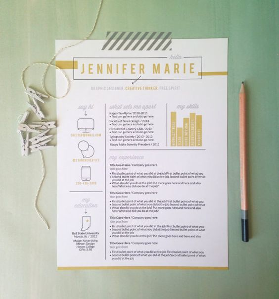 check out this great custom resume design from 23 amp 9 creative the