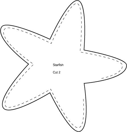 starfish coloring pages and starfish template on pinterest
