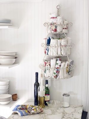 Cute And Creative Ways To Store Dish Towels I Think Many If Not All Could Be Used For Hand