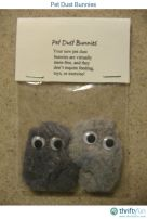 Here's a fun, very easy craft idea - might be something you'd like to put in Easter baskets this year as a gag gift, lol. Simply take some dryer lint and shape it however you want (kinda small). Then do the same with a second piece of dryer lint.: