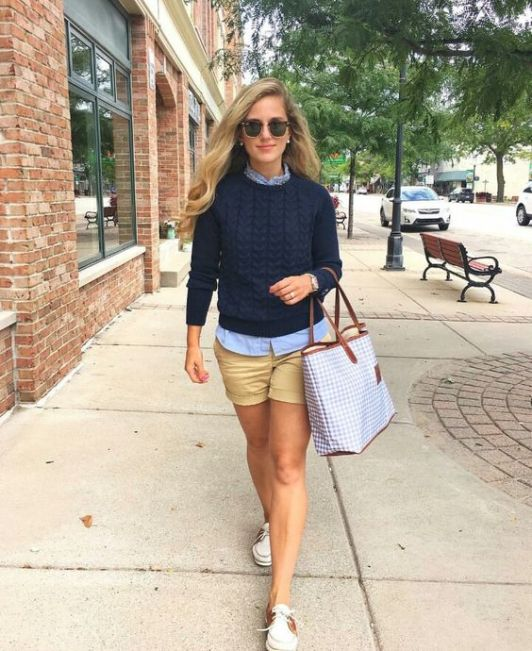 A cable knit sweater is perfect for a preppy outfit!