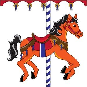 free clip art carousel horse carousel horse clipart image colorful