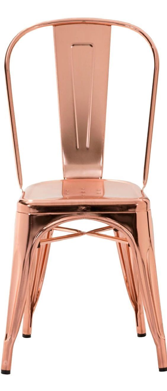 Rose Gold/Copper ● Décor if I could get these chairs for my table = bliss::