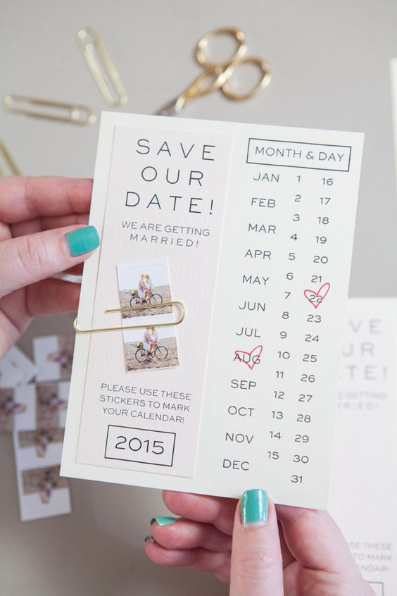 Make your own save the dates with this printable invitation and your own instagram photos.: