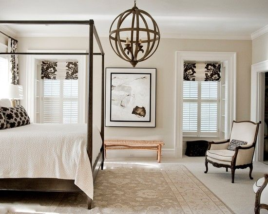 , Charming Conventional Bedroom With Stunning Black And