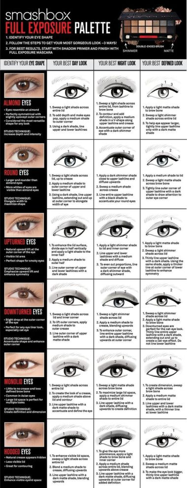 Dont know how to apply eyeshadow for your eye shape? Smashbox has you covered!