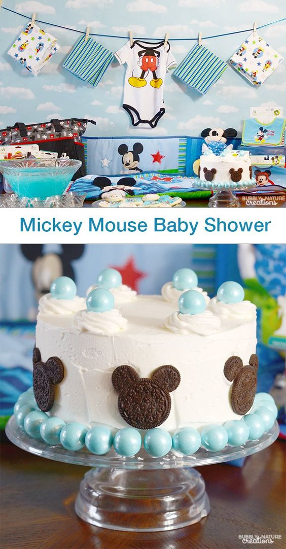 Mickey Mouse Baby Shower Pinterest Disney On The Side